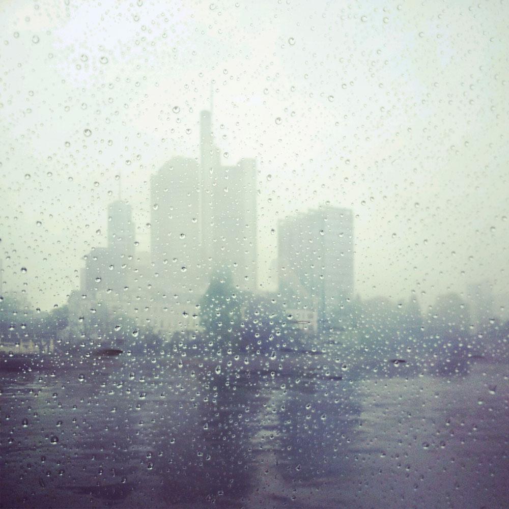 Frankfurt-Skyline-Rain