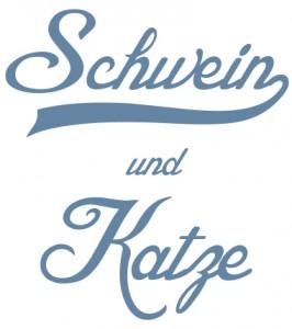 Schwein und Katze Logo